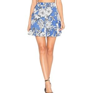 Lovers + Friends Floral Button Down A-Line Skirt